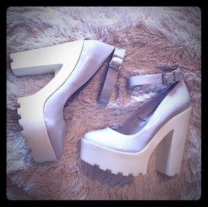 Edgy Mary Jane Platform Ankle Strap Heel